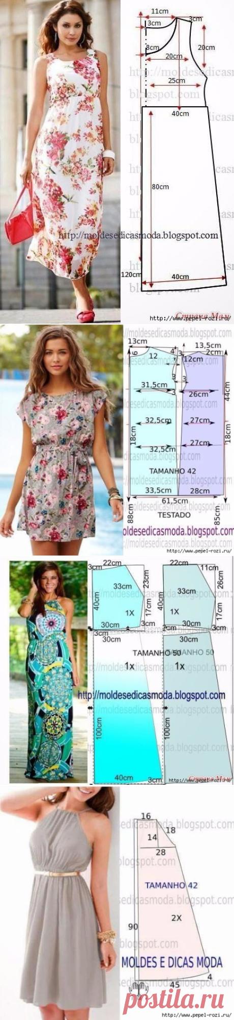Моделирование летних платьев: 6 красивых выкроек!