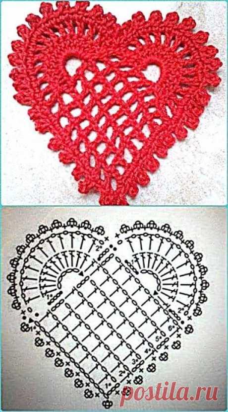 Простое сердечко - символическая салфеточка