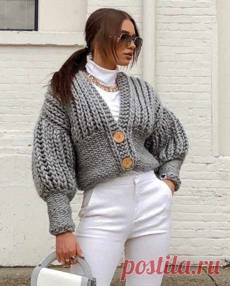 Теплые кардиганы, которые сейчас на пике моды, – невзрачными их точно не назовешь   Блог стилистки   Яндекс Дзен.Идеи.