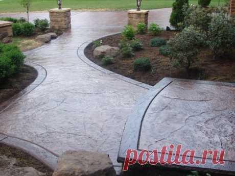 Декоративный бетон: описание и виды, технология изготовления своими руками