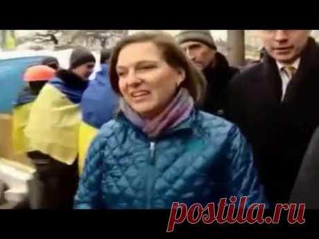 Виктория Нуланд и американский посол раздают печеньки на евромайдане в Киеве / Украина