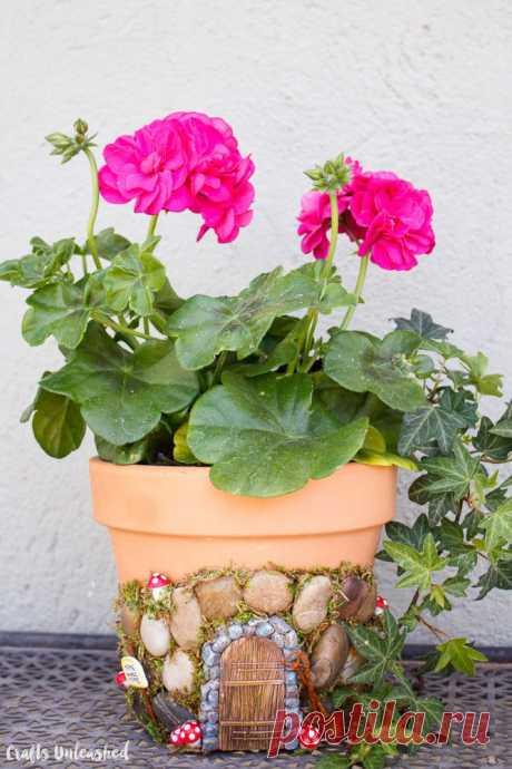 Домики фей (подборка, diy) / Цветы, вазы и цветочные горшки / ВТОРАЯ УЛИЦА