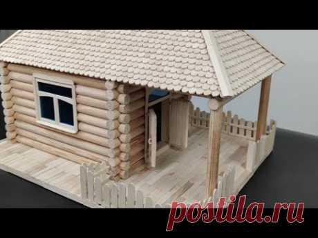 Как сделать домик из дерева и палочек для мороженого, видео взорвал интернета,