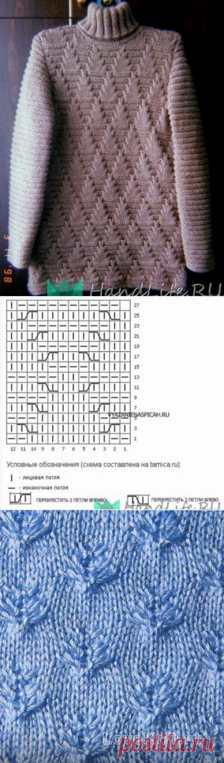 Симпатичные узоры спицами + Схемы