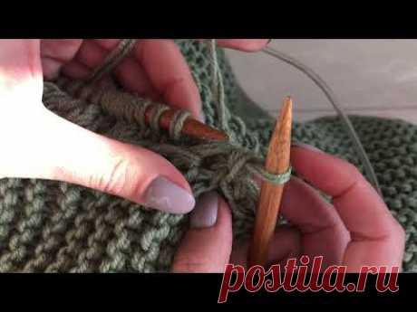 [Вязание] Простой способ соединения двух деталей изделия. Мастер-класс