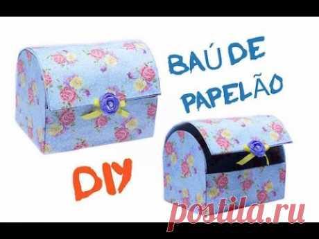 DIY - Baú Feito com Papelão - YouTube