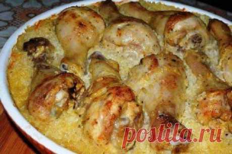 Ленивый рис с куриными голенями