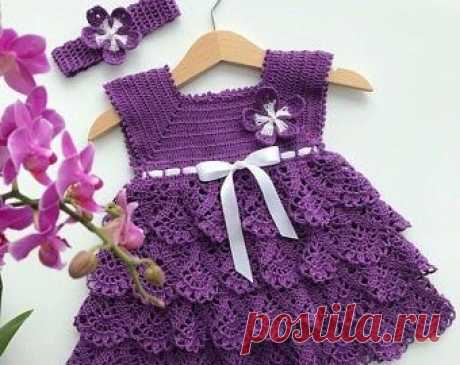 Tutorial on crochet baby dress - CRAFTS LOVED Learn today an amazing step by step tutorial of a children's crochet dress, here with us. Children's crocheted clothes are charming.