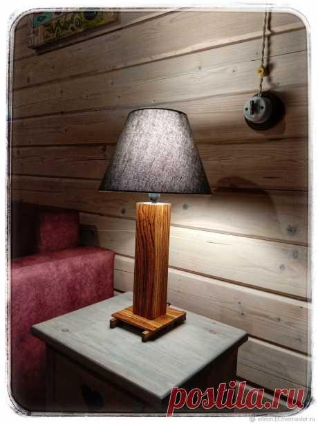 Лампа настольная.Зебрано.Массив – купить на Ярмарке Мастеров – LS4X6RU | Настольные лампы, Москва