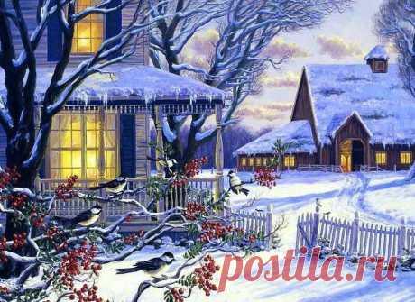 Схема вышивки «Зимний вечер» - Вышивка крестом