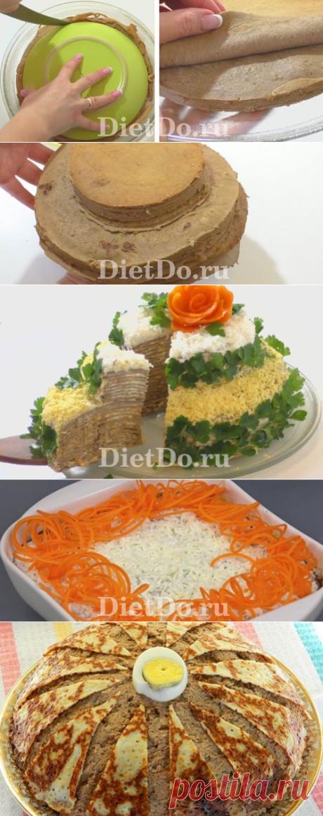 Печёночный торт из говяжьей печени: ТОП-7 рецептов пошагово с фото