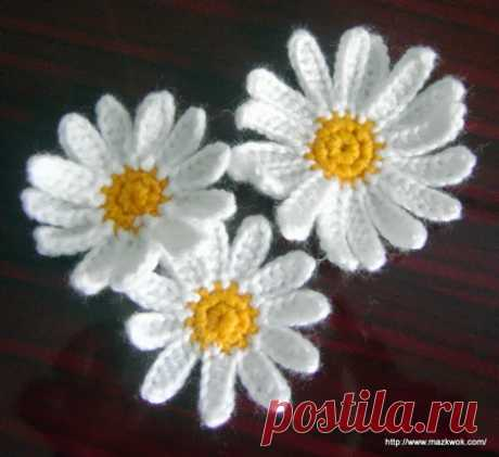 knitted flowers - 000090