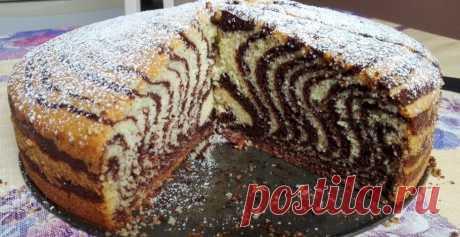 Пирог Зебра, $$posts_count$$ с фото - ФотоРецепт - кулинарные рецепты с пошаговыми фотографиями на ФотоРецепт.ру