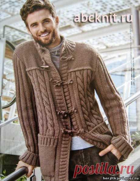 Мужской кардиган - пуловера.свитера.джемпера - вязание для мужчин. - Каталог файлов - Дизайн-студия вязаных изделий.