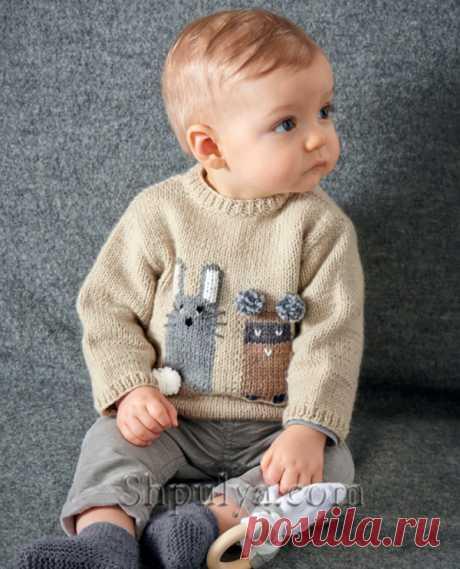 Пуловер с жаккардом для мальчика - SHPULYA.com