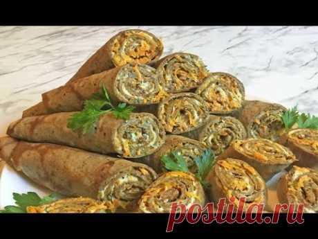 Печеночные Рулетики / Liver Rolls / Закуска из Печени / Праздничная Закуска