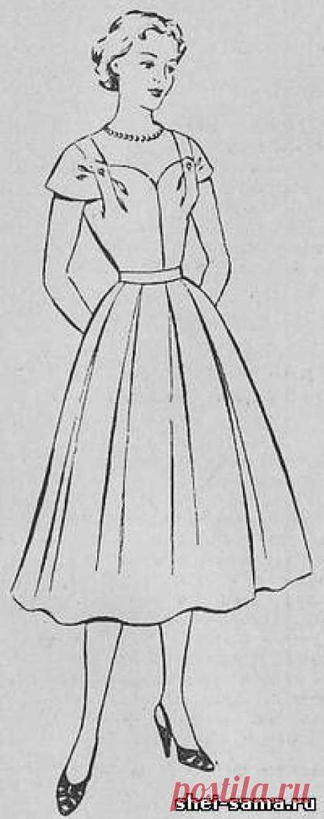 003e98ed598 Платье для театра или выпускного вечера с открытым вырезом горловины - Сто  фасонов женского платья -