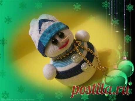 Снеговик из носка за 15 минут/ Делаем с детьми / Новогодние игрушки своими руками