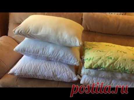 Как реанимировать старую подушку и сшить новую нестандартного размера.