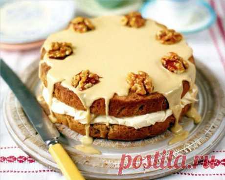 Кофейный торт с орехами   Рецепты Джейми Оливера