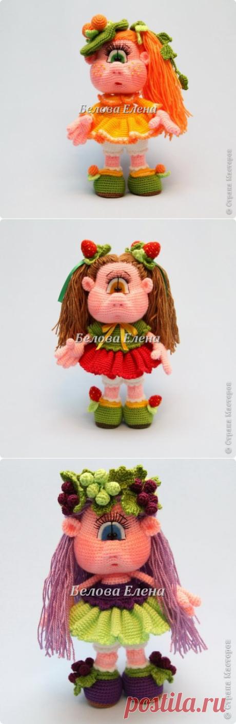 Куколки-ягодки: Клубничка, Апельсинка и Виноградинка | Страна Мастеров