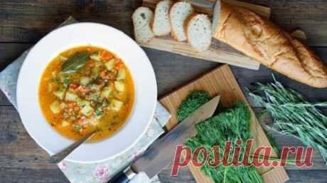 Лёгкий французский суп (постное блюдо)