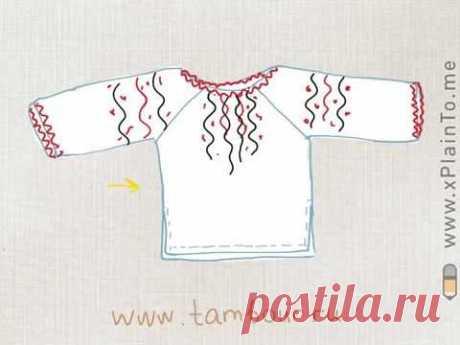 Украинская женская вышиванка. Часть 2. Пошив