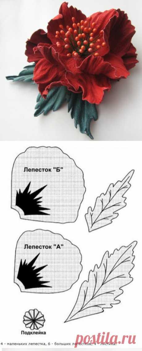 Роскошные цветы из кожи — Рукоделие