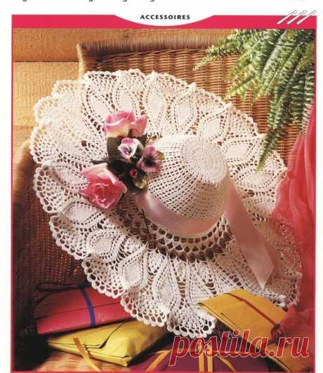 Летние шляпы с широкими полями, связанные крючком, схемы прилагаются | Рукоделие