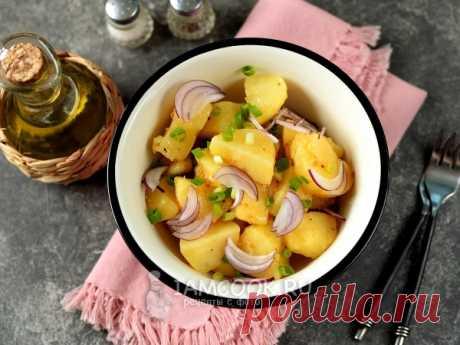 Австрийский картофельный салат. Простой в приготовлении, сытный салат из картофеля.