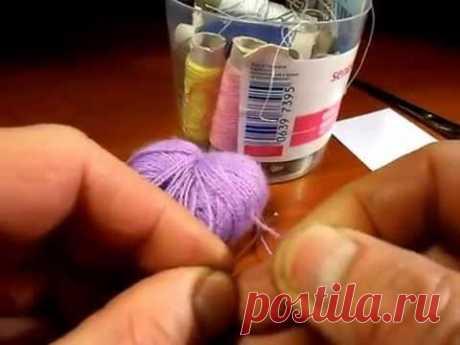 Como pasar el hilo gordo en la aguja