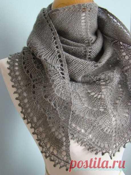 """Красивая шаль """"Холден"""" спицами - Красивое вязание Вязание спицами шали Картинки увеличиваются при нажатии Видео:  Похожее"""