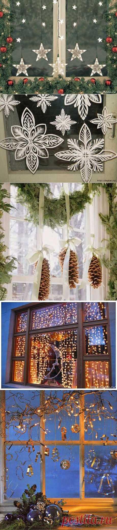 Сказочные новогодние окна.