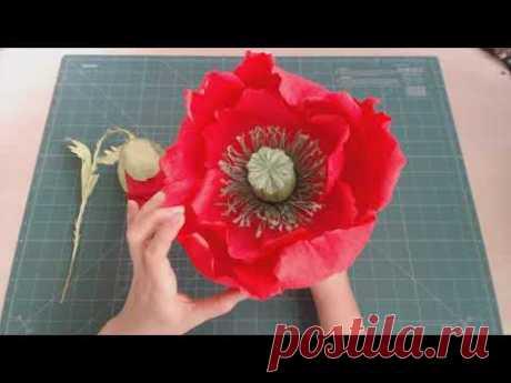 Обзор цветов по курсу Интерьерное панно маки