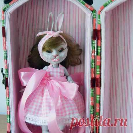 Шарнирная кукла Зая, Мастерская Маришкина кукла, Мастер Marisha18 - https://LangeSTORE.ru