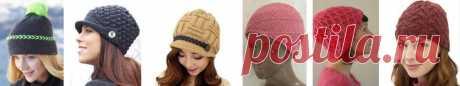 Схемы жаккардов для вязания шапок | Шапки спицами