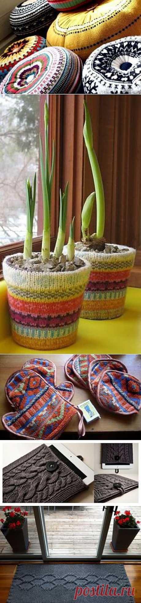 18 причин не выбрасывать старый свитер: уютные поделки своими руками
