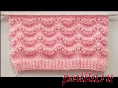 Красивый и простой узор для джемпера, свитера, кардигана спицами