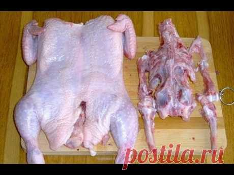 Как разделать курицу для праздничного куриного рулета. Интересное блюдо для праздничного стола.