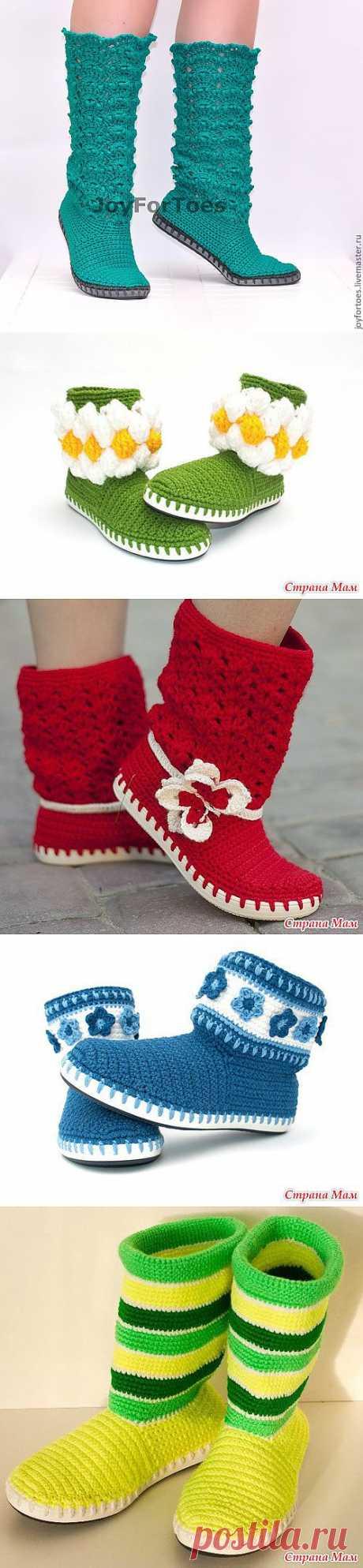 ИДЕИ И МАСТЕР КЛАССЫ ПО ВЯЗАНОЙ ОБУВИ Вязаная обувь, согласитесь необычна, но очень интересна и все больше завоевывает свою популярность. Как правило такая обувь яркая, легкая и пока не так часто встречается, как кожаная на наших улицах. Это значит, когда вы оденете вязаную обувь дополнительное внимание, как со стороны женщин, так и со стороны мужчин Вам будет обеспечено.