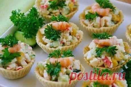 Stuffings for tartlets on taste and color! 10 recipes! \u000a\u000aKeep not to lose! \u000a\u000a1. Salatik from a liver of a cod. \u000aTo show completely …