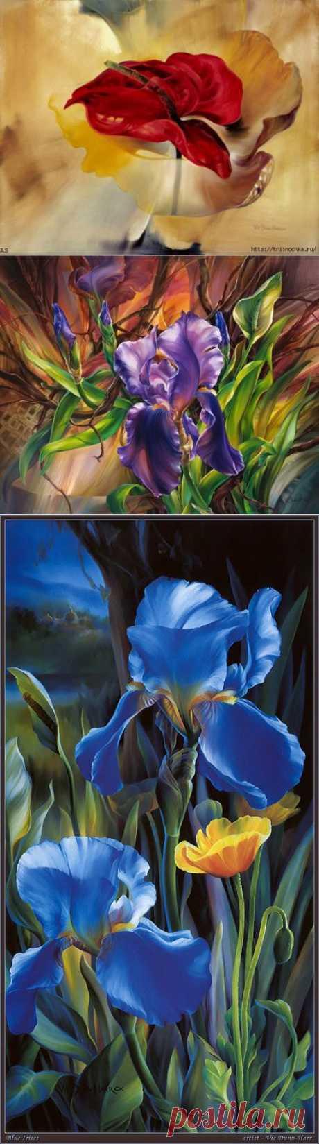 Vie Dunn-Harr. Между цветком и женщиной есть много общего – они очень нежные создания.