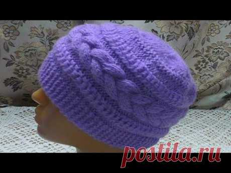 Hat with a relief braid