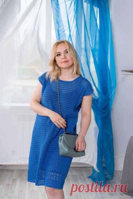 Простое, стильное и удобное платье из хлопка для летних прогулок!