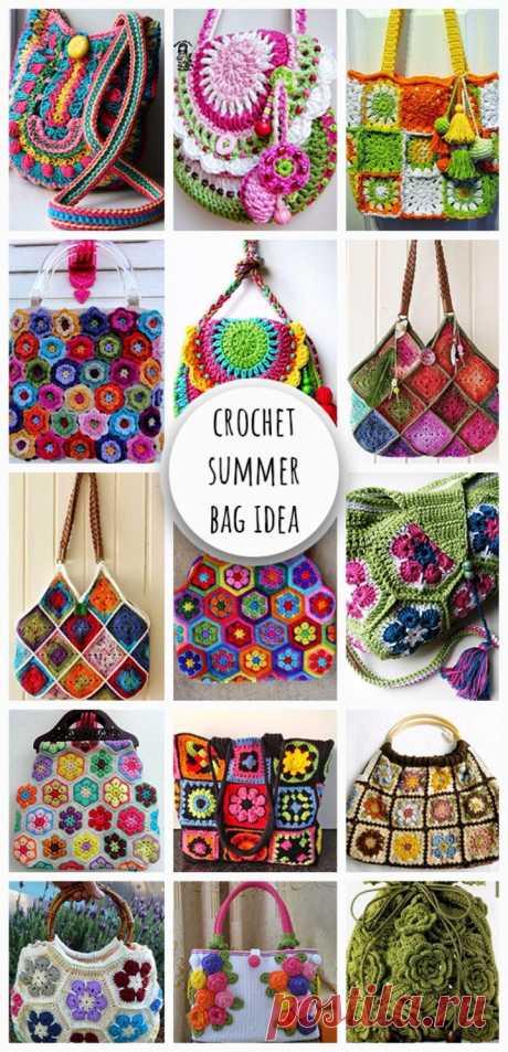 Crochet Colorful Summer Bag Idea