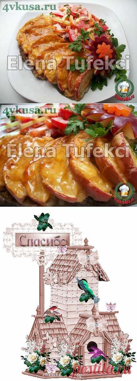 «Свинина запеченная с яблоками»   4vkusa.ru