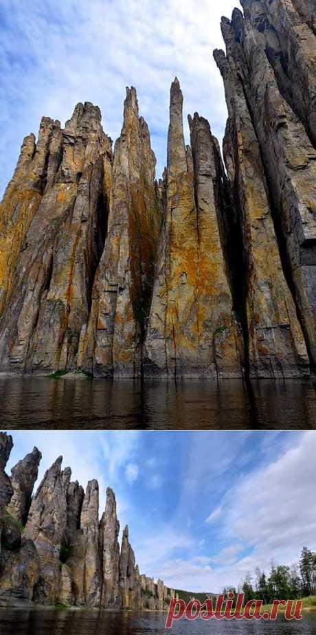 Река Синяя. синские столбы. Фото