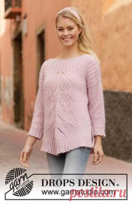Свитер Само совершенство Свободный женский свитер, связанный на спицах 5 мм из двух видов тонкой пряжи. Что примечательно, все детали модели вяжутся раздельно...