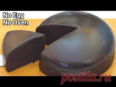 Мягкий шоколадный торт без яиц, без духовки и миксера