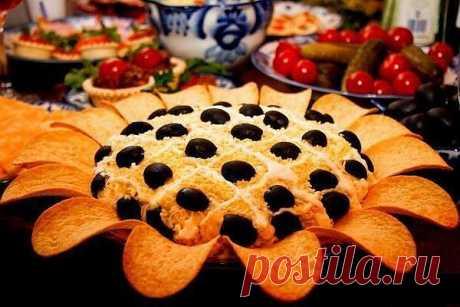 шеф-повар Одноклассники: Салат Подсолнух